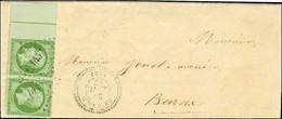 PC 1457 / N° 12 Paire Bdf Intégral Avec Filet D'encadrement Càd T 22 GRIGNOLS (32) Sur Lettre Locale. 1857. - SUP. - RR. - 1853-1860 Napoleon III