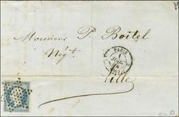 Etoile / N° 14 Càd PARIS (60) 1 JUIL. 54 Sur Lettre Pour Lille. Premier Jour Du Changement De Tarif. - SUP. - R. - 1853-1860 Napoleon III