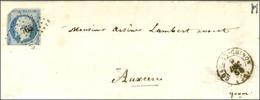 PC 765 / N° 14 (un Tiers Découpé) Càd T 15 CHATEAU-CHINON (56) Sur Lettre Pour Auxerre. Fraude De Postier. 1854. - TB /  - 1853-1860 Napoleon III