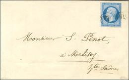 OR (2 Frappes) / N° 14 Belles Marges Sur Lettre Avec Texte Daté De Miellin Le 28 Février 1858 Pour Melisey (Haute-Saône) - 1853-1860 Napoleon III