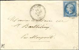 Càd T 22 LE FLEIX (23) / N° 14 Type II Sur Lettre Pour St Barthelemy Par Monpont. 1862. - TB / SUP. - 1853-1860 Napoleon III