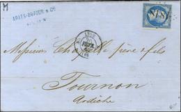 Essai De GC 1818 Délié / N° 14 Belles Marges Càd T 15 A LYON A (68) 20 FEVR. 62. - SUP. - R. - 1853-1860 Napoleon III