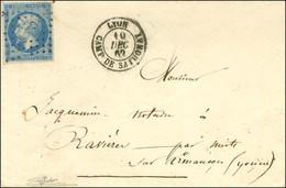 Losange CDS / N° 14 Belles Marges Càd LYON / CAMP DE SATHONAY. 1860. - TB / SUP. - R. - 1853-1860 Napoleon III