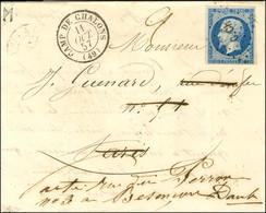 Losange C.CH / N° 14 Belles Marges Càd T 15 CAMP DE CHALONS (49) Sur Lettre Pour Paris Réexpédiée à Besançon. 1857. - SU - 1853-1860 Napoleon III