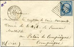 PC 3537 / N° 14 Càd T 15 VERSAILLES (72) 14 NOV. 57 Sur Lettre Adressée à La Dame De S.A.I. La Princesse Mathilde Au Pal - 1853-1860 Napoleon III