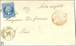 PC 460 / N° 14 Càd T 15 BOURBON-LANCY (70) Sur Lettre Adressée à Sa Majesté L'Empereur Des Français à Paris, Au Recto Ca - 1853-1860 Napoleon III