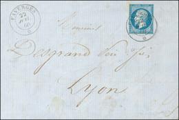 Càd Sarde FAVERGES * / N° 14 Sur Lettre Pour Lyon. 1860. - SUP. - R. - 1853-1860 Napoleon III
