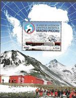PERU, 2019, MNH,ANTARCTICA, MACHU PICCHU  ANTARCTIC SCIENTIFIC STATION,  MOUNTAINS, S/SHEET - Research Stations