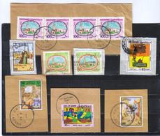 KUWAIT - 11 Timbres Oblitérés Et 4 Enveloppes 1983 - Kuwait