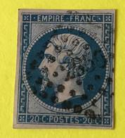 YT 14B - TB -  Belles Marges - Planché Panneau A1 Position 69 état 1 - 1853-1860 Napoleon III