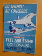 Concorde - COULOMMIERS -- Concorde & Patrouille Martini - Fête Aérienne Aérodrome Coulommiers 21 Septembre 1986 - 1946-....: Era Moderna