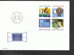 Liechtenstein FDC 824-827 Gedenkjahre  Katalog 2,50 - Gebraucht