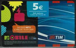 TIM 5€ - MTV Mobile  - Scadenza  Set. 2010 - GSM-Kaarten, Aanvulling & Voorafbetaald