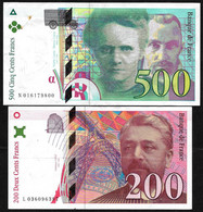 France 500 FF (1994) + 200 FF (1996) : Lot - Voir Description (1) - 500 F 1994-2000 ''Pierre En Marie Curie''