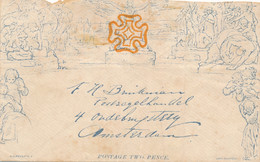 UK - 1840 - Two Pence Mulready - Facsimile - 1840 Mulready-Umschläge