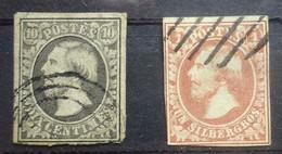 LUXEMBURG    1852    Nr. 1 - 2    Gestempeld     CW 170,00 - 1852 William III