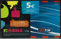 TIM 5€ - MTV Mobile  - Scadenza  Feb. 2012 - GSM-Kaarten, Aanvulling & Voorafbetaald