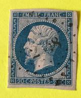 YT 14B - TTB -  Belles Marges - Planché Panneau A1 Position 74 - ++++ PC 2548 Indice 13 = + 22€ (timbre Isolé) - 1853-1860 Napoleon III