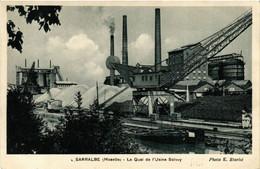 CPA AK Sarralbe - Le Quai De L'Usine Solvay (650840) - Sarralbe
