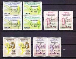 TIMBRE . . . . . .PEROU PERU HABILITADO 1969  PA POSTE AERIENNE AEREO - Peru