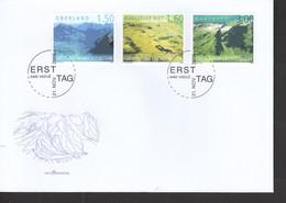 Liechtenstein FDC   1397-1399 Liechtenstein Von Oben      Katalog  11,00 - FDC