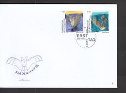 Liechtenstein FDC   1389-1390 Fledermäuse    Katalog  7,50 - FDC