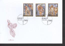Liechtenstein FDC   1391-1393 Weihnachten     Katalog  7,50 - FDC