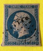 YT 14B - TB -  Belles Marges - Planché Panneau A1 Position 75 - 1853-1860 Napoleon III
