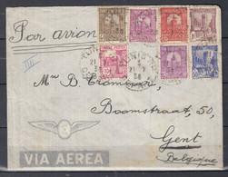 Brief Van Tunis RP Depart Naar Gent (Belgie) - Covers & Documents