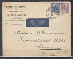 Brief Van Sousse Tunisie Naar Chamonix (Frankrijk) - Covers & Documents