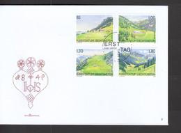 Liechtenstein FDC   1383-1386 Weidealpen       Katalog  9,00 - FDC