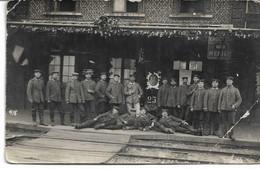 CARTE PHOTO 59 NORD WW1 QUESNOY-SUR-DEULE  Quai De La Gare Côté Voies Occupation Allemande état :1 Angle Plié Vendu Tel - Lille