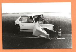 PHOTO ORIGINALE - ACCIDENT DE VOITURE SIMCA TALBOT HORIZON - CRASH CAR - Coches