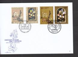 Liechtenstein FDC  II   1375-1376 Blumengemälde Mit China 3628-3629       Katalog  12,00 - FDC