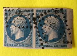 YT 14B Paire TTB -  Belles Marges Et Beau Bord De Feuille Est  - Planché Panneau A1 Position 79 Et 80 (ex SZ - 1853-1860 Napoleon III
