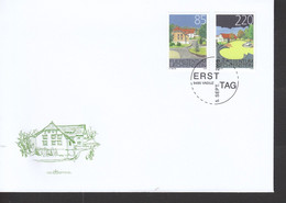 Liechtenstein FDC  1387-1388 Ortsbildschutz      Katalog  6,00 - FDC