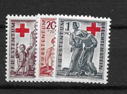 1945 MNH Liechtenstein Mi 244-6 Postfris** - Ungebraucht