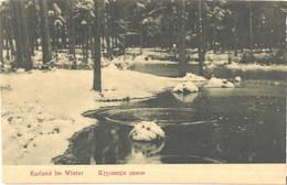 Latvia:Courland, Kurland At Winter, Pre 1914 - Letonia