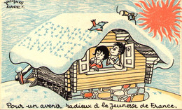 Bonne Année Jeunesse De France - Conférence Nationale C.G.T. Ivry Sur Seine 1959 - Ill. Jacques NARET - Labor Unions