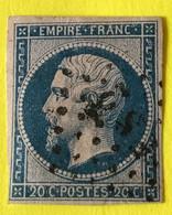 YT 14B TB -  Belles Marges - Planché Panneau A1 Position 98 - Oblit. ES2 Romain +++ 25€ - 1853-1860 Napoleon III