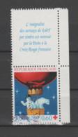 FRANCE / 1996 / Y&T N° 3039a : Croix-Rouge (Ours & Bonhomme En Ballon) De Carnet + Vignette BdC D - Cachet Rond - Used Stamps