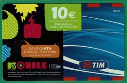 TIM 10€ - MTV Mobile  - Scadenza  Nov. 2010 - GSM-Kaarten, Aanvulling & Voorafbetaald