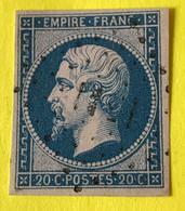 YT 14B - TB Belles Marges - Planché Panneau A1 Position 105 - Nuance à Voir - 1853-1860 Napoleon III