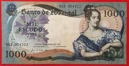 PORTUGAL 1000 Escudos Chapa 10 [D. Maria II] P#172 19/05/1967 TTB - Portugal