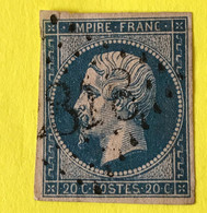 YT 14B - TB Belles Marges - Planché Panneau A1 Position 147 état 1 - 1853-1860 Napoleon III