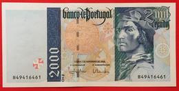 PORTUGAL 2000 Escudos Chapa 2 [Bartolomeu Dias] P#189 07/11/2000 UNC - Portugal