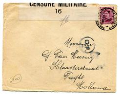 Belgische Legerpost Nr 4 Mobiel Postkantoor - Naar Vught Holland - CENSURE MILITAIRE - CENSUUR FOLKESTONE - C.F. - 1914-18