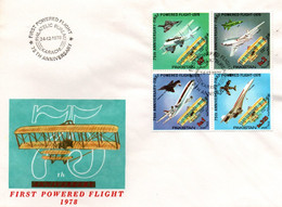 FDC Aviation 1978 - Karachi - Airplane Concorde Tornado Phantom Mig Tristar Wright - Avion Flugzeug - Pakistan