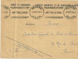 NIEVRE - Dépt N° 58 = NEVERS 1929 =  Flamme  KRAG  'POUR PARIS ET LYON / METTRE  N°  /  ARRONDISSEMENT' - Annullamenti Meccanici (pubblicitari)
