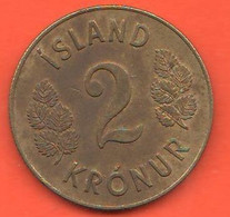Islanda 2 Corone 1962 Krónur Iceland Island  Bronze Coin - Iceland